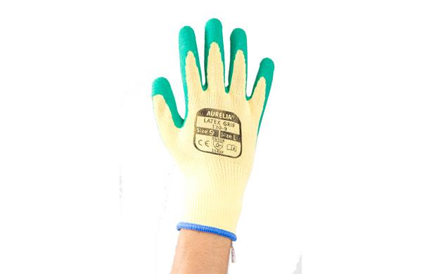 Aurelia Latex Grip verde 600